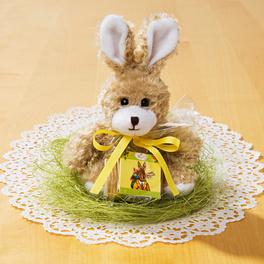 Lapin de Pâques avec chocolat