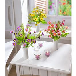 Le lot de 3 bouquets de fleurs des champs
