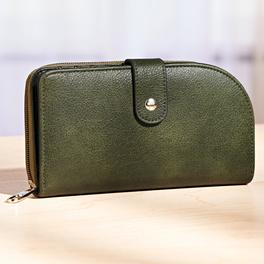 Le porte-monnaie femme, vert foncé