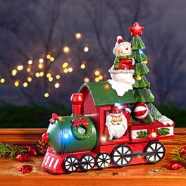 Le train de Noël musical à LED
