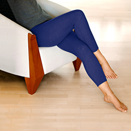 Leggings chauds, bleu