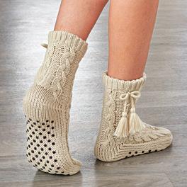 Les chaussettes douces, blanc cassé