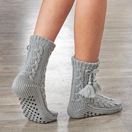 Les chaussettes douces, gris