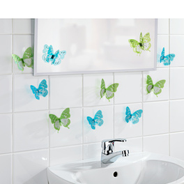 Lot de 10 stickers Papillon