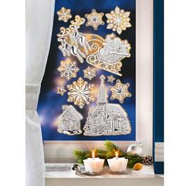 Lot de 12 décorations pour fenêtres