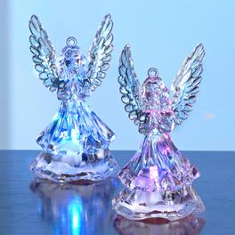 Lot de 2 anges lumineux