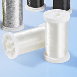 Lot de 2 bobines de fil à coudre transparent claire