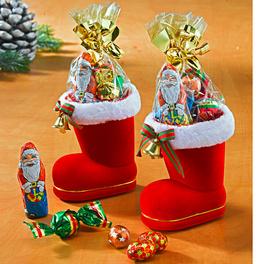 Lot de 2 bottes de père Noël