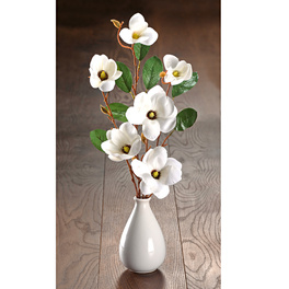 Lot de 2 branches de magnolia, rosé
