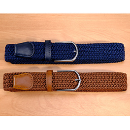 Lot de 2 ceintures, bleu + cognac