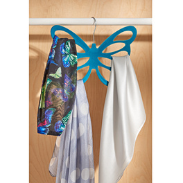Lot de 2 cintres à foulards Papillon