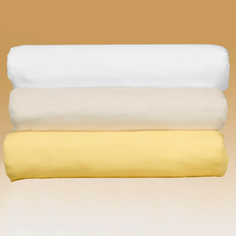 Lot de 2 draps-housses, blanc