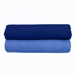 Lot de 2 draps-housses, bleu foncé
