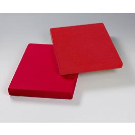 Lot de 2 draps-housses, rouge