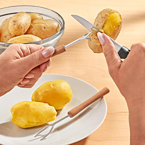 Lot de 2 fourches épluche-pommes de terre