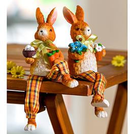 Lot de 2 lapins à jambes ballantes
