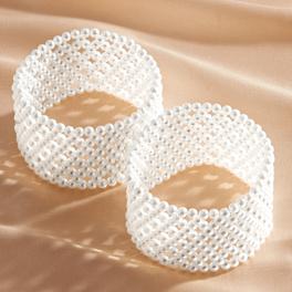 Lot de 2 élastiques de manche, perle
