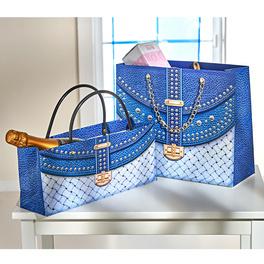 Lot de 2pochettes cadeau, bleu