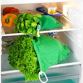 Lot de 2 sacs pour salades/herbes