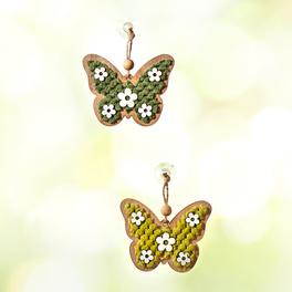 Lot de 2suspensions Papillons