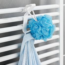 Lot de 3 crochets pour radiateur sèche-serviettes, blanc