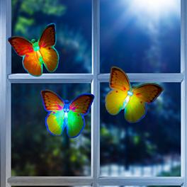 Lot de 3 papillons LED