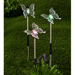 Lot de 3 papillons solaires