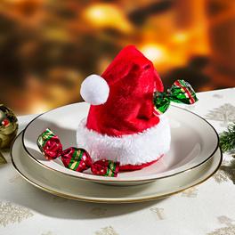 Lot de 4 bonnets de Père Noël