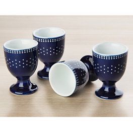 Lot de 4 coquetiers, style country