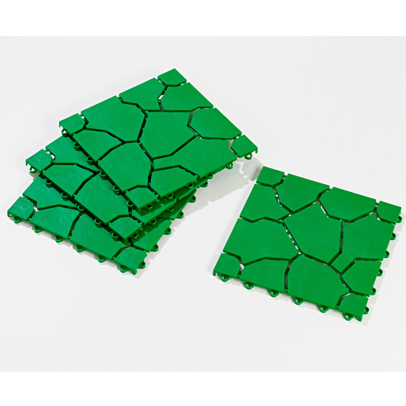 Lot de 4 dalles, vert