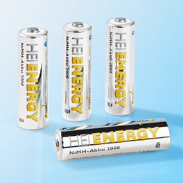 Lot de 4 piles rechargeables AA
