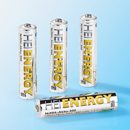 Lot de 4 piles rechargeables AAA