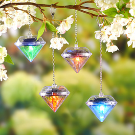 "Lot de 4 suspensions solaires ""Diamants"""