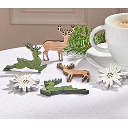 Lot de 6 décorations Edelweiss