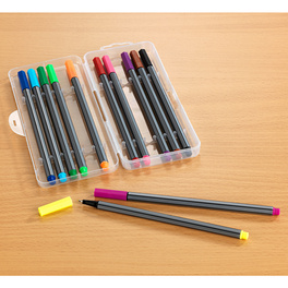 Lot de stylos à pointe fine multicolores