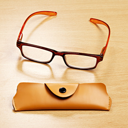 Lunettes 3 dioptries, orange