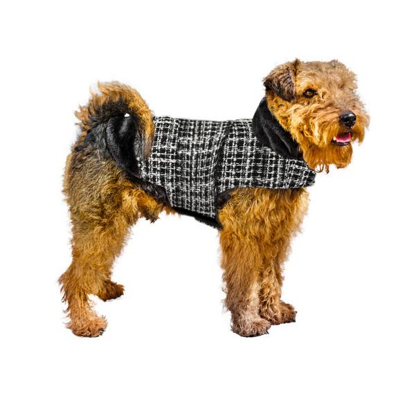Manteau à carreaux pour chien, L