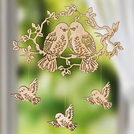 Mobile « Oiseaux » en bois