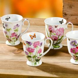 Mug « Fleurs », lot de 4