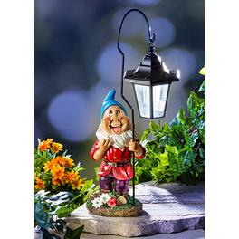 Nain solaire avec lanterne