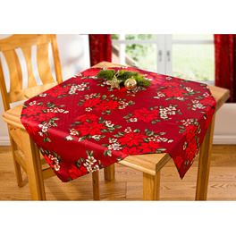 Nappe Poinsettia rouge, 85x85
