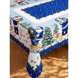 Nappe de Noël, bleu 140 x 180 cm