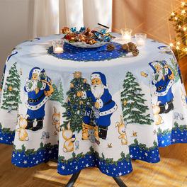 Nappe de Noël, bleu 16