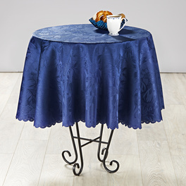 Nappe fleurie 160 cm, bleu