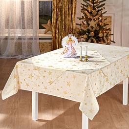 Nappe Étoiles, crème 150 x 250 cm