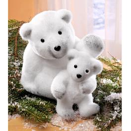 Ours blanc avec petit