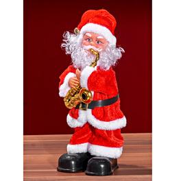 Père Noël avec saxophone