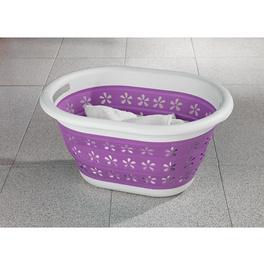 Panier à linge pliable, violet