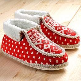 Pantoufles, rouge