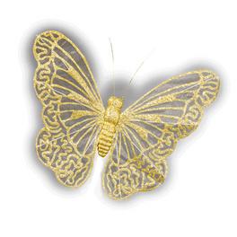 Papillon XXL, coloris or
